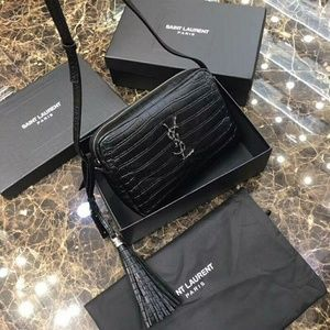 YSL Saint Laurent Crocodile Check Description